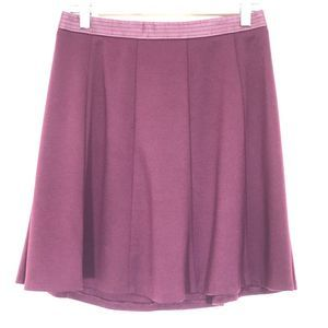 The Limited Maroon Purple Circle Skater Skirt Sz 0